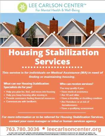 Housing Stabilization Services now offered by Lee Carlson Center!
