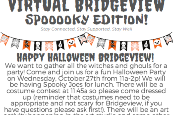 Halloween at Bridgeview is back and its mental health awareness month